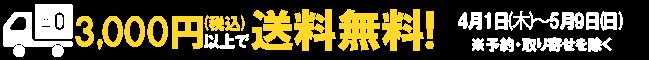 3,000円以上で送料無料!